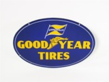 CIRCA 1930s-40S GOODYEAR TIRES PORCELAIN SERVICE STATION SIGN