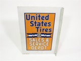 LATE 1920S-EARLY 30S UNITED STATES TIRES TIN GARAGE FLANGE