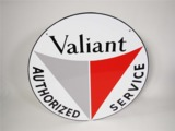 EARLY 1960S PLYMOUTH VALIANT PORCELAIN DEALERSHIP SIGN
