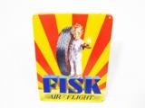 CIRCA 1934 FISK AIR FLIGHT TIRES PORCELAIN GARAGE SIGN