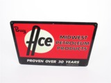 1940S-50S ACE OIL - MIDWEST PETROLEUM PRODUCTS TIN SIGN