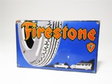 CIRCA EARLY 1930S FIRESTONE TIRES PORCELAIN GARAGE SIGN