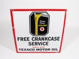 LARGE LATE 1920S-30S TEXACO OIL PORCELAIN SIGN