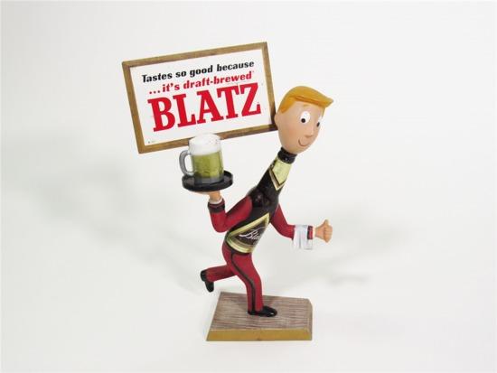 LATE 1950S BLATZ CAST-METAL BAR BACK TAVERN PIECE