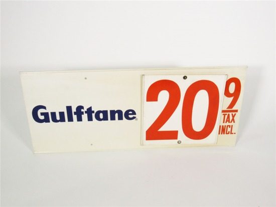 1960S GULF OIL GULFTANE GASOLINE TIN-PAINTED SERVICE STATION SIGN