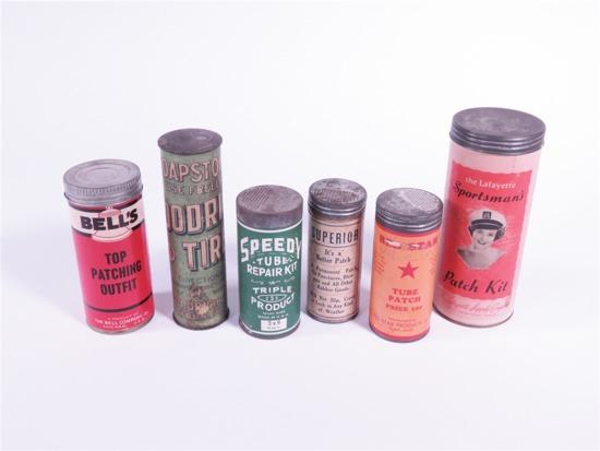 SIX 1920S-50S TUBE REPAIR PATCH KITS