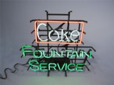 LATE 1960S COKE FOUNTAIN SERVICE LIGHT-UP NEON SIGN