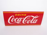 1950S COCA-COLA EMBOSSED TIN SIGN