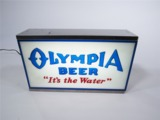CIRCA EARLY 1960S OLYMPIA BEER LIGHT-UP TAVERN SIGN