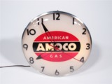 CIRCA 1950S AMOCO AMERICAN GAS LIGHT-UP SERVICE STATION CLOCK