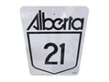 ADDENDUM ITEM - CHOICE ALBERTA HIGHWAY 21 METAL ROAD SIGN. VERY CLEAN!