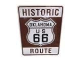 ADDENDUM ITEM - AWESOME HISTORIC ROUTE 66 - ARIZONA METAL HIGHWAY ROAD SIGN. CHOICE SIGN DENOTING