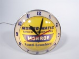 1950S-60S MONROE SHOCK ABSORBERS LIGHT UP SERVICE GARAGE CLOCK