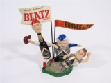 LATE 1950S BLATZ BEER MILWAUKEE BRAVES TAVERN BAR BACK PIECE