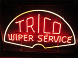1940S TRICO WIPER SERVICE AUTOMOTIVE GARAGE WINDOW NEON SIGN