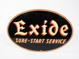 EXIDE SURE-START SERVICE TIN GARAGE SIGN