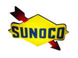 SUNOCO OIL LIGHT-UP SERVICE STATION SIGN