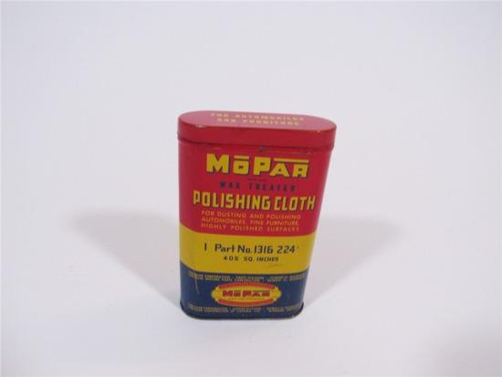 CIRCA 1940S-50S MOPAR PARTS POLISHING CLOTH TIN