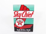 1942 TEXACO SKY CHIEF GASOLINE PORCELAIN SIGN
