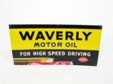 1930S WAVERLY MOTOR OIL EMBOSSED TIN SIGN