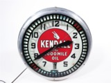 1930S KENDALL OIL NEON AUTOMOTIVE GARAGE CLOCK