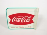 LATE 1950S-EARLY 60S COCA-COLA TIN DINER FLANGE SIGN