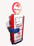 1950S RESTORED MOBIL OIL SWING ARM SERVICE STATION GAS PUMP