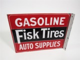 1930S FISK TIRES PORCELAIN FLANGE SIGN