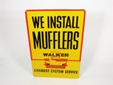 LATE 1950S WALKER MUFFLERS EMBOSSED TIN GARAGE SIGN