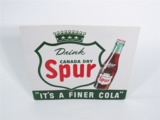 1947 CANADA DRY SPUR SODA EMBOSSED TIN SIGN