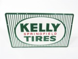 1967 KELLY SPRINGFIELD TIRES EMBOSSED TIN GARAGE SIGN