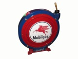 1940S-50S MOBIL OIL SERVICE DEPARTMENT AIR HOSE REEL
