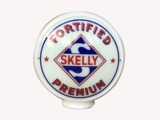 LATE 1940S SKELLY FORTIFIED PREMIUM GAS PUMP GLOBE
