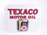 1930 TEXACO MOTOR OIL PORCELAIN SERVICE STATION SIGN