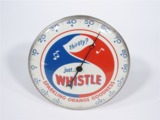 1962 WHISTLE ORANGE SODA DIAL THERMOMETER