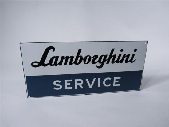 LAMBORGHINI SERVICE SINGLE-SIDED PORCELAIN DEALERSHIP SIGN