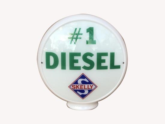 1940S SKELLY #1 DIESEL GAS PUMP GLOBE