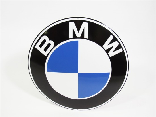1960S BMW AUTOMOBILES PORCELAIN DEALERSHIP SIGN