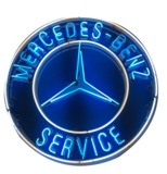 1950S MERCEDES-BENZ PORCELAIN DEALERSHIP SIGN WITH NEON