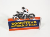 1930S GOODYEAR MOTOR CYCLE TIRES PORCELAIN DEALERSHIP SIGN