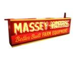 CIRCA 1950S MASSEY-HARRIS NEON PORCELAIN SIGN