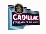 CIRCA 1940S CADILLAC NEON PORCELAIN DEALERSHIP SIGN