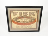 EARLY 1920S FISK TIRES AUTOMOTIVE GARAGE POSTER