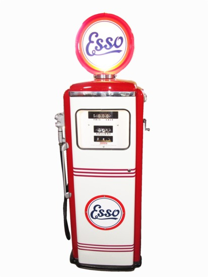 1958 ESSO OIL SERVICE STATION GAS PUMP