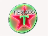 1959 TEXACO OIL PORCELAIN WITH NEON SERVICE STATION SIGN