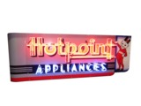1930S-40S HOTPOINT APPLIANCES NEON PORCELAIN DEALER SIGN
