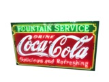 1930S COCA-COLA PORCELAIN WITH NEON SIGN