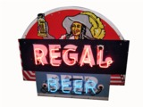 1930S-40S REGAL BEER OF LOUISIANA NEON PORCELAIN TAVERN SIGN