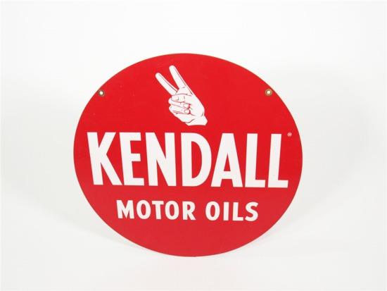 CIRCA 1960S KENDALL MOTOR OILS TIN AUTOMOTIVE GARAGE SIGN