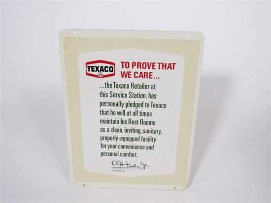 EARLY 1960S TEXACO SERVICE STATION TIN SIGN